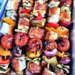 North West - veggie skewers