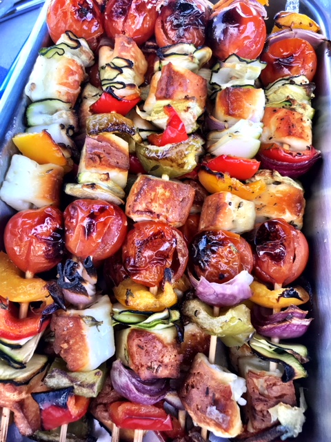 North West - veggie skewers