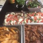 Buffet Menu; Salad, Wedges and Crispy Crackling